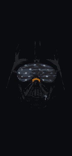 Iphone11papers Com Iphone11 Wallpaper Ah87 Darth Vader Minimal Starwars Illust Art